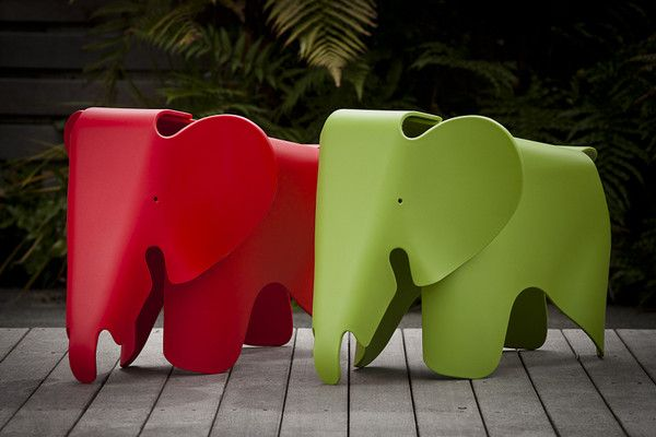 $90 elephant stool for the kids for Ocean Room annex Ernie the elephant
