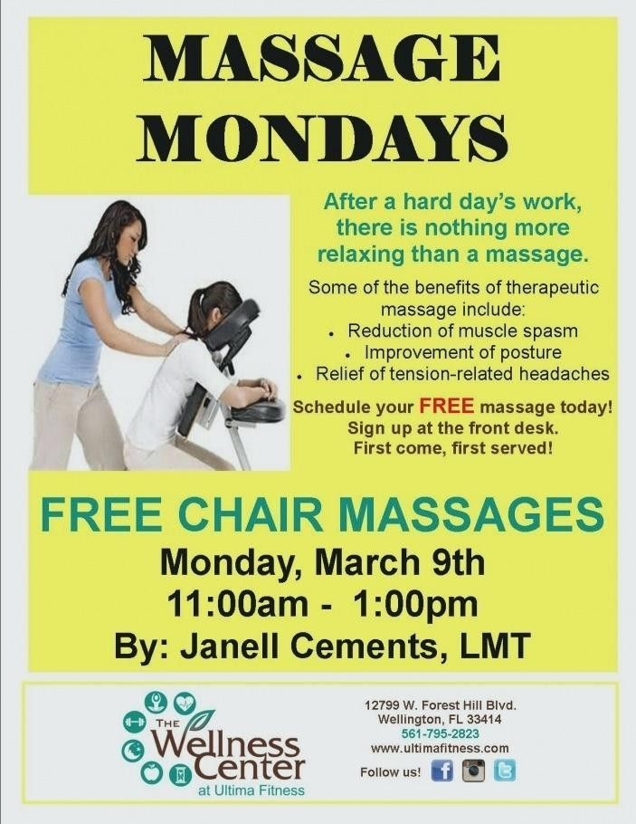 Chair Massage Flyer Templates Flyer Template Massage Today