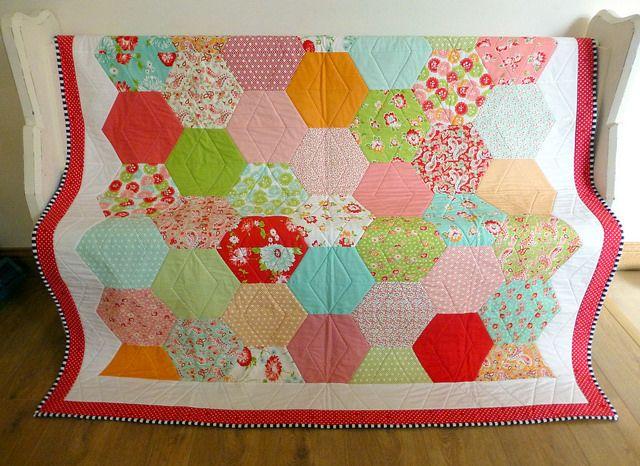 Rosie's 50th Quilt: Scrumptuous Half Hexie | Flickr - Photo Sharing!