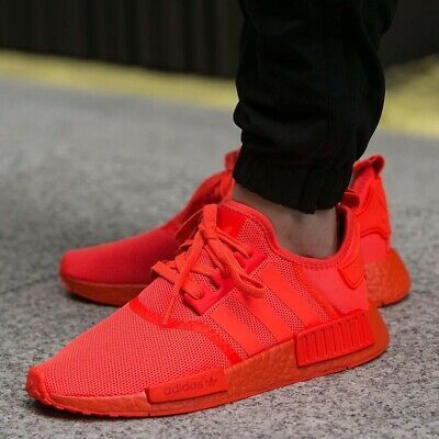Adidas Originals NMD R1 Mens athletic sneaker triple red FV9017 ...