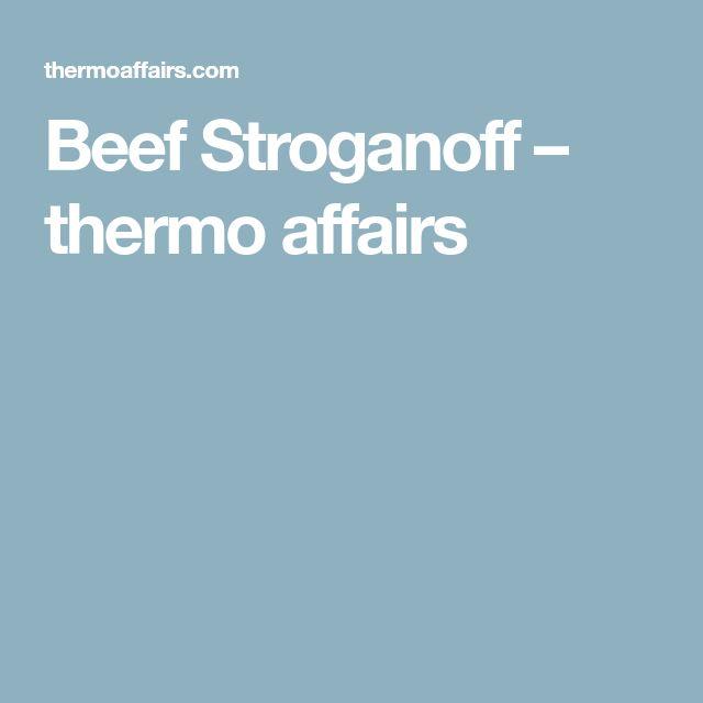 Beef Stroganoff – thermo affairs