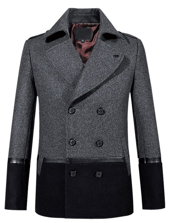 Amazing Grey Black Modern Pea Coat.  http://www.58soufun.com/mens-style/fashionsection/menstrends/mens-winter-coats-amazing-grey-black-modern-pea-coat-p-1421.html