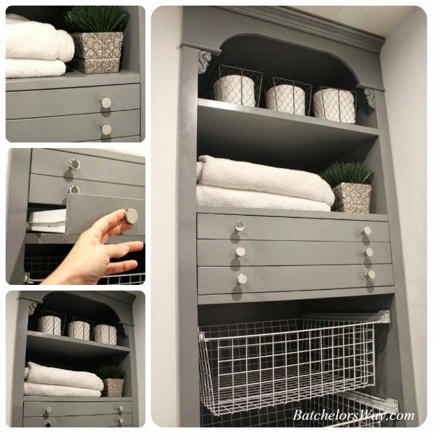 Laundry Drying Rack Cabinet ~ These drying drawers were built using the tutorial on