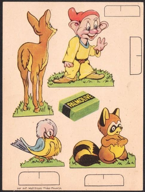 Filmic Light - Snow White Archive: Palmolive Paper Doll Cards