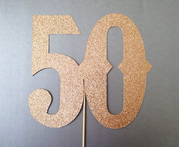 50th Birthday Wedding Anniversary Birthday Number Photo Booth Props Holiday Photobooth Props