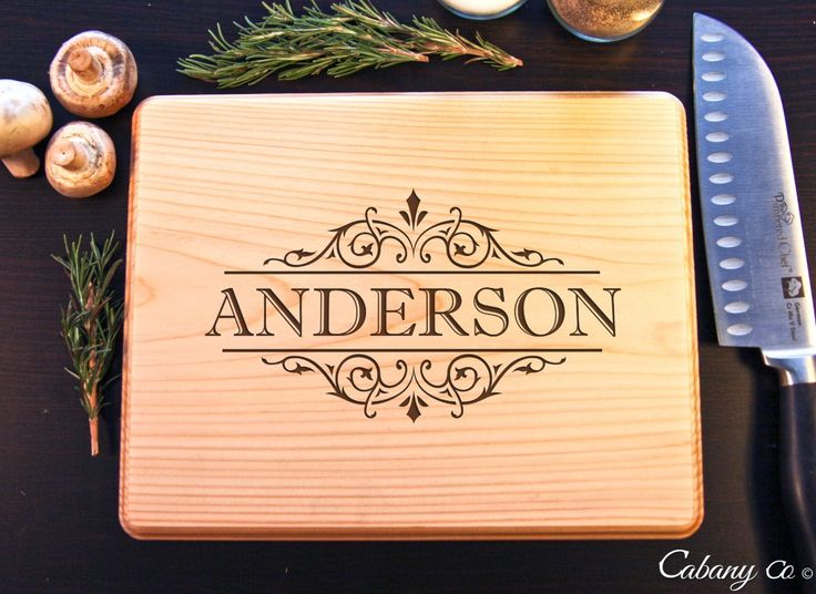 Vine Name Personalized Cutting Board BW - Cabanyco