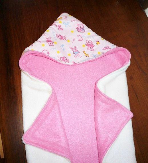 Reversible Hooded Baby Blanket Free Sewing Pattern
