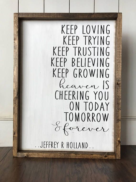 Heaven Is Cheering You OnFarmhouse-Style Wood Sign