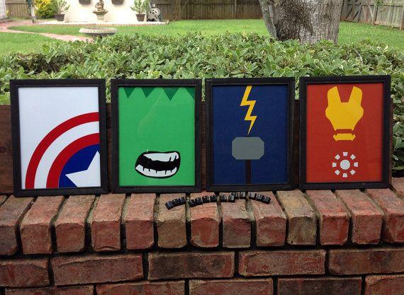 Minimalist Classroom Booking ~ Art superhero print the avengers minimalist mixed media