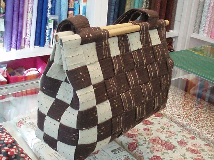 Bolso tela patchwork Handbag