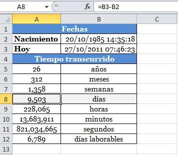 Calcular transcursos de tiempo