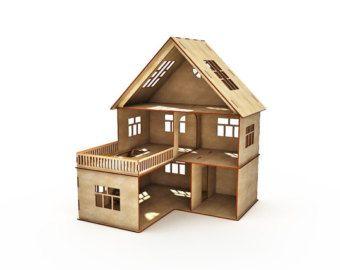 Modern dollhouse Dollhouse Anastasia with terrace