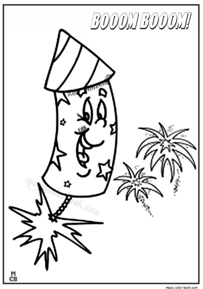 18 best Fireworks Coloring pages images on Pinterest Fireworks