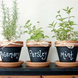 genius use for chalkboard paint- could be a cute mother's day gift with a pretty flower, too!