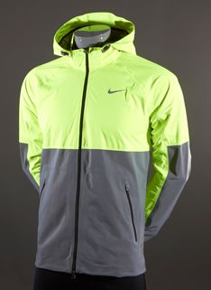 Nike Shield Flash Jacket -Mens Running Clothing - Volt-Refelctive Silver-Reflective Silver Size S #pdrmostwanted