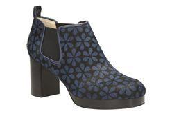 Orla Audrey, Blue Floral, Womens Smart Shoes