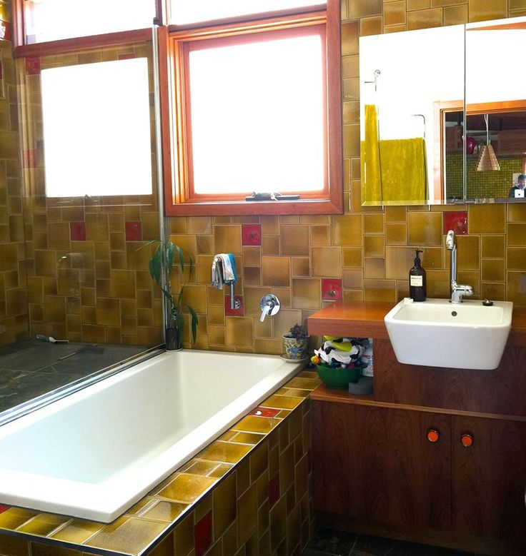 48 Best Images About Bathrooms Renovated/new Inspired By Mid Century Modern On Pinterest