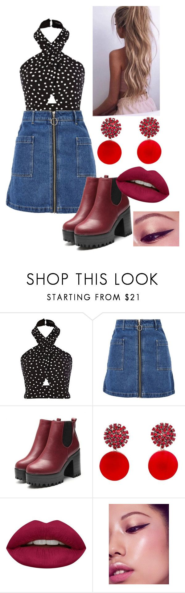 """""""Mila"""" by judehassan on Polyvore featuring Topshop, Marni and Huda Beauty"""