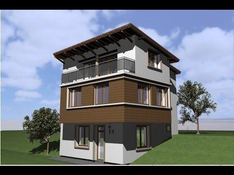 Casa pe 3 nivele Craiova. Proiect cas acu demisol.parter si etaj. Arhite...