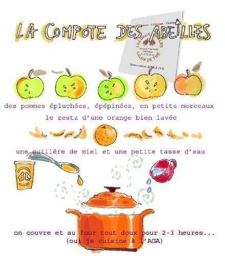 Tambouille» compote légère pomme-miel-orange