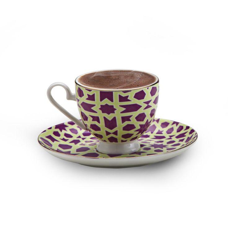 Karaca Türk Kahve Fincan 2 Li Takımı Pembe