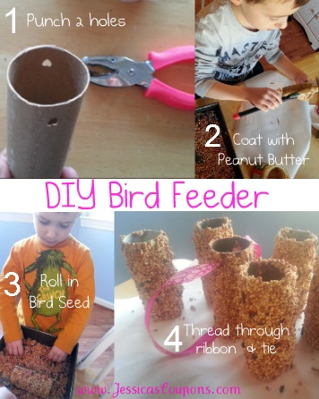 DIY Bird Feed from toilet paper tube