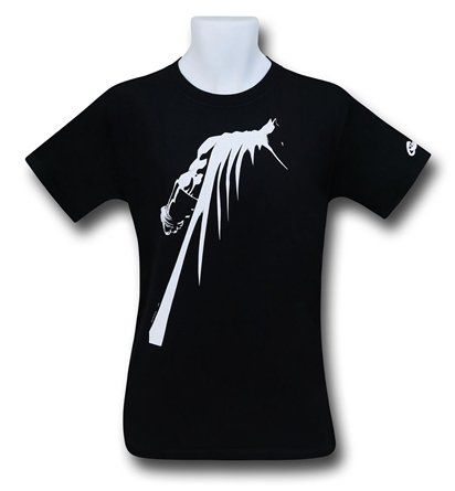 The 100% cotton Batman Dark Knight III T-Shirt has DC Comics' Caped Crusader styling and profiling! He should probably make this his Facebook profile pic come to think of it.