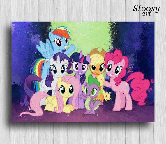 17 best My Little Pony room decor / Equestria Girls art images on ...