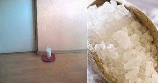 Добавьте в стакан воды соль и уксус и поставьте в любой части вашего дома. После 24 часов, вы будете очень удивлены!