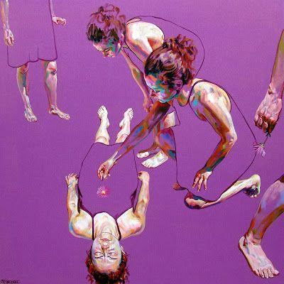 Cristina Troufa's Self-Portraits: Hibernar 90 x 90 acrilico stela.JPG
