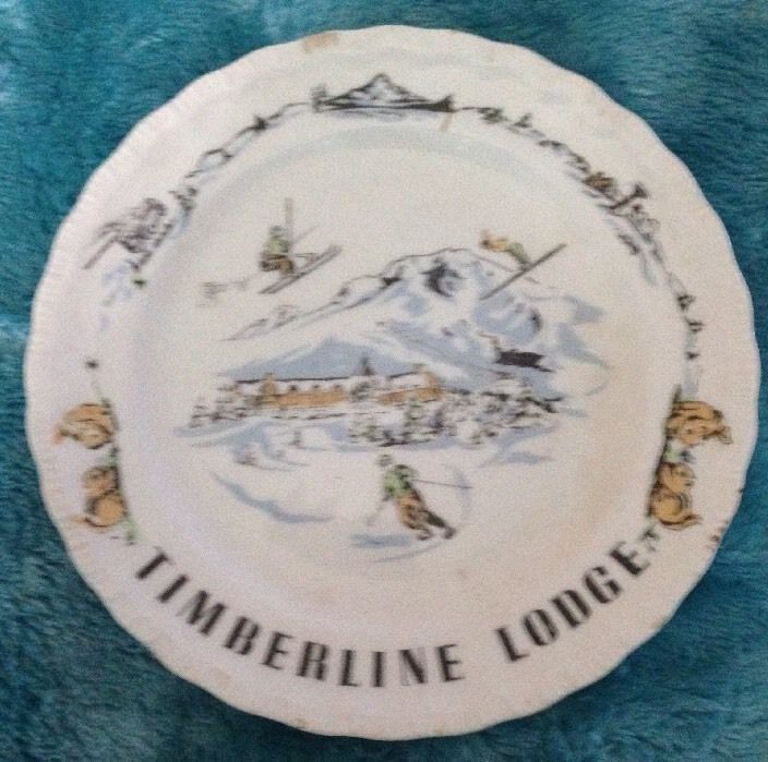 Vintage Timberline Lodge MT Hood Oregon Skiing Souvenir Plate | eBay