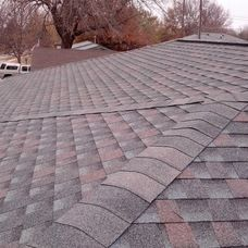 Timberline HD Williamsburg Slate shingles. My dad is a roofer he will know