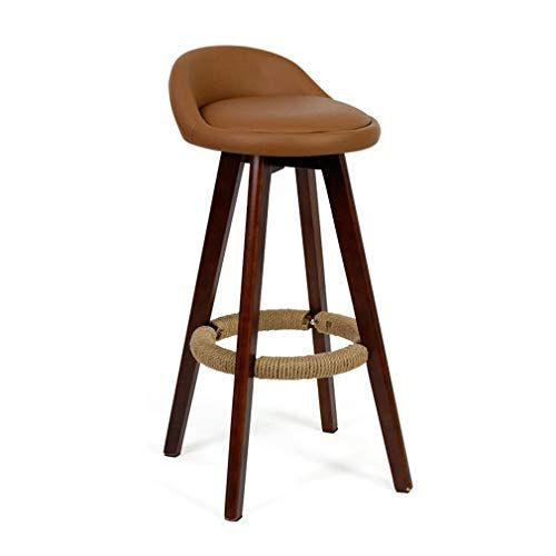 Sackderty Stool Wooden Barstools High Chairs Seat Rotatable Pub