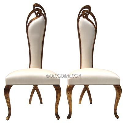 Art Nouveau Style High Back Dining Chairs Art Nouveau