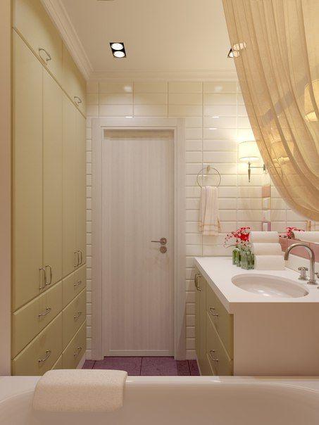 """Небольшая квартира на """"Речном вокзале"""" #ванная, #яркая, #оливковый, #полоски, #маленькая"""