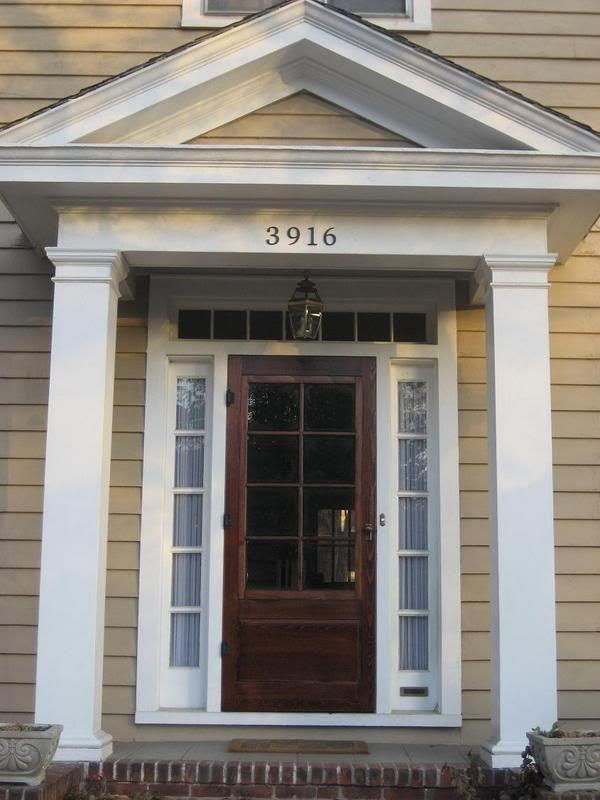 Wood Storm Door for the front door LOVE!!!!