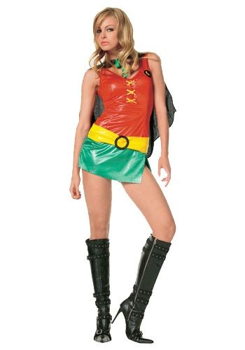 Selina Kyle? Whose that? You'll be the only one on Batman's mind in this Sexy Robin Girl Costume. This Robin costume makes a great Batman couples costume idea.