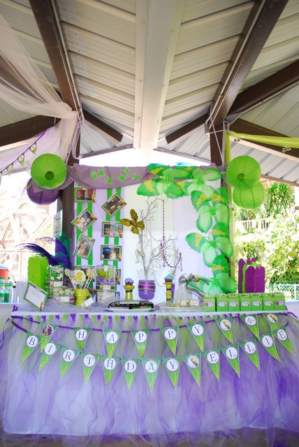 "Tinkerbell & Fairies / Birthday ""Tinkerbell and the Pixie Hallow Games"": The dessert Table"