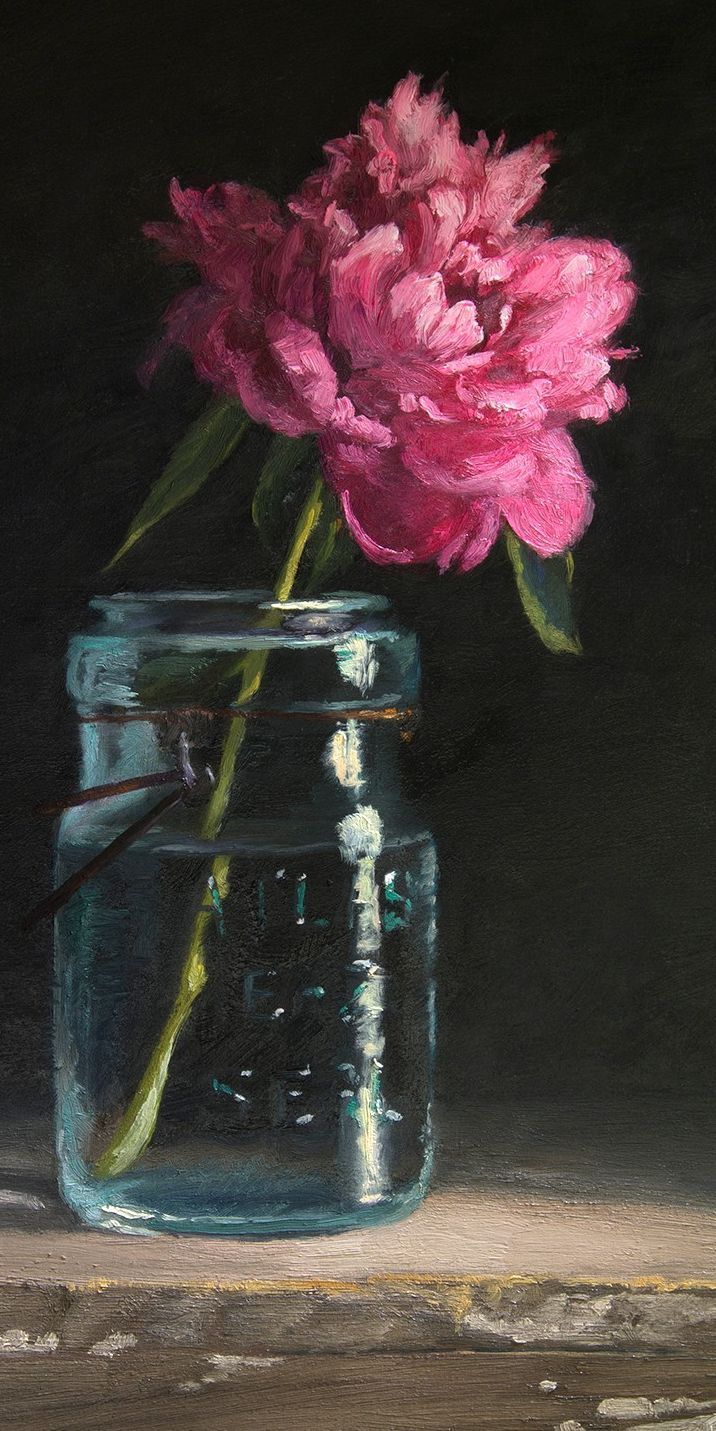 Peonies are a favorite flower for painting, this was a surprise birthday present. Comm …, #birthday #favorite #mal #pf …
