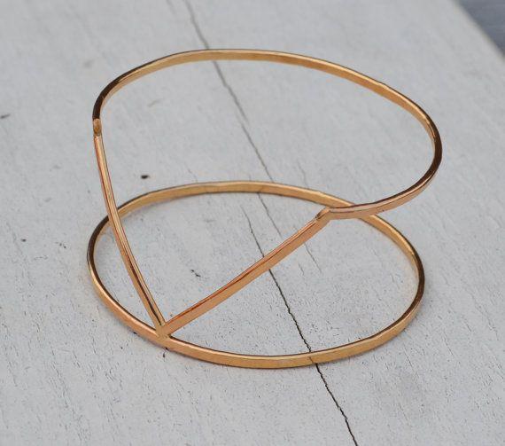 Bracelet Double Bracelet - jonc à Vénus ou bras Cuff Bracelet -14 K or rempli ou argent Sterling