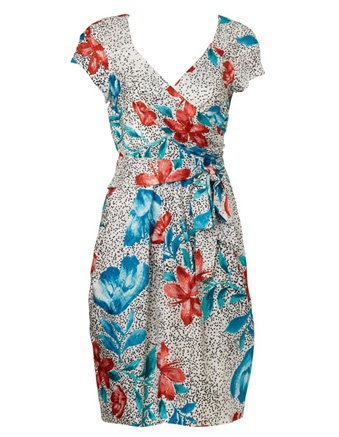 LEONA BY LEONA EDMISTON scattered spot floral waist tie pencil dress #cupday #myerspringfashion