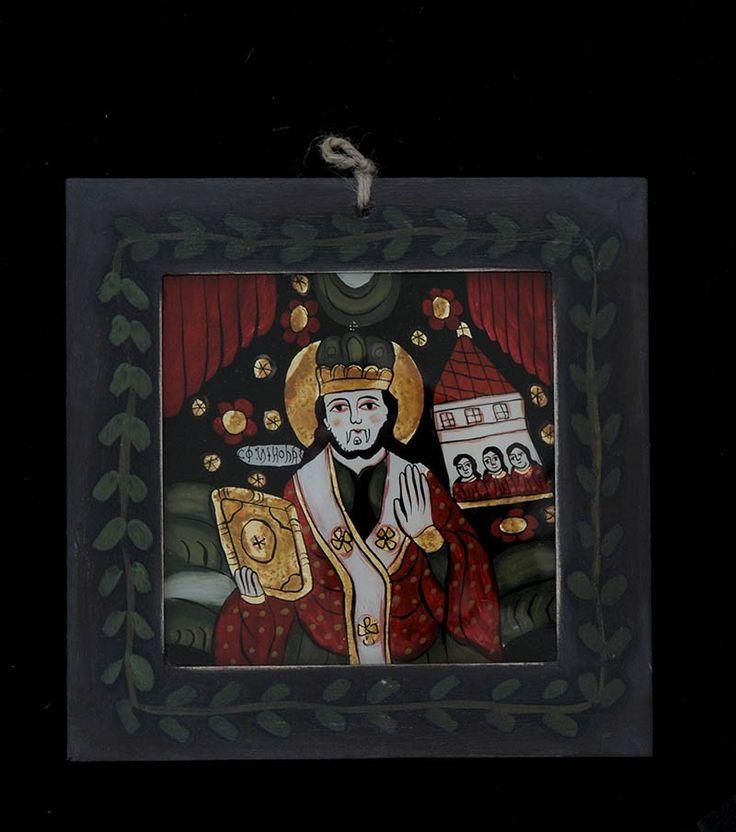 Icoana pictata pe sticla Sf. Ierarh Nicolae