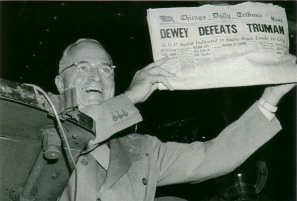 Newspaper Blunder, 1948