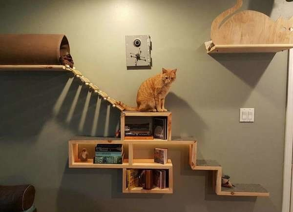 For The Dogs 11 Crazy Home Upgrades Made By Pet Owners Diy Cat Tree Cat Playground Cat Diy