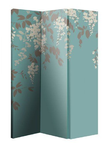 Arthouse Room Divider Screen 3 Panels 2 Fold Wisteria 180cm X 120cm X 2.5cm  (