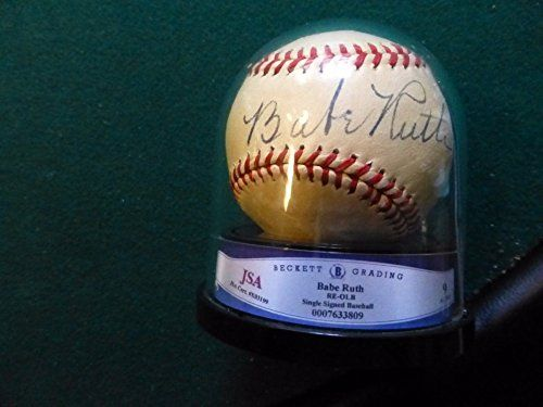 #Collectables Stellar Babe Ruth Signed Baseball JSA Grade 9 Autograph – Authentic MLB Autograph