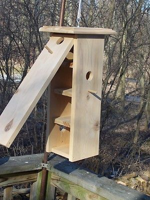 Birdhouse,Handmade,Functional,Outdoors,CedarWood,clean-out,hanging,multi houses in Home & Garden, Yard, Garden & Outdoor Living, Bird & Wildlife Accessories, Birdhouses | eBay