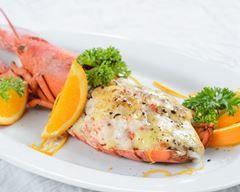 demi homards au four et beurre d'orange