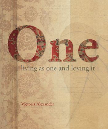 Beautiful book cover, gorgeous textures, paper prints, nature inspired, textile inspired. 'One' by Victoria Alexander.