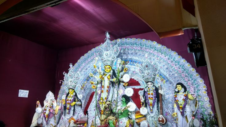 This is the idol- Durga ....Which is worshipped during the festival of Durga Puja in Kolkata,India.....